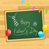 Szczęśliwa ojca dnia wiadomość na pokładzie ilustracji