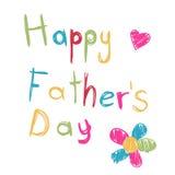 szczęśliwa ojca dzień karta Fotografia Stock