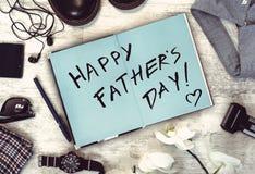 Szczęśliwa ojca ` s dnia inskrypcja Zdjęcia Royalty Free
