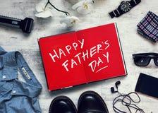 Szczęśliwa ojca ` s dnia inskrypcja Zdjęcie Stock
