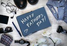 Szczęśliwa ojca ` s dnia inskrypcja Obraz Stock