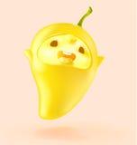 Szczęśliwa Owocowa kreskówka Ja ` m mango Zdjęcie Stock