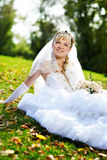 szczęśliwa panny młodej trawa Zdjęcia Stock