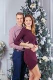 Szczęśliwa para świętuje nowego roku Obraz Royalty Free