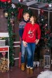 Szczęśliwa para świętuje nowego roku Zdjęcie Royalty Free