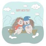 szczęśliwa para ilustracji