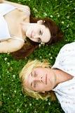 szczęśliwa para biały Obraz Royalty Free