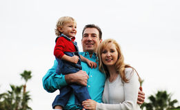 szczęśliwa para dziecka fotografia stock
