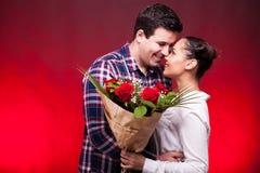 Szczęśliwa para na pierwszy dacie Obrazy Royalty Free