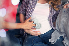 Szczęśliwa para oczekuje dziecka Obrazy Stock