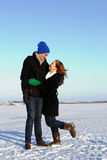 szczęśliwa pary zima obraz stock