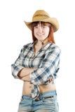 szczęśliwa pastoralna kobieta Zdjęcia Royalty Free
