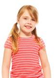 Szczęśliwa piękna blond dziewczyna z ogonami Obraz Royalty Free