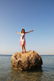 szczęśliwa piękna dziewczyna fotografia royalty free