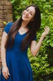 Szczęśliwa piękna młoda kobieta Zdjęcia Stock