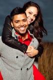 Szczęśliwa piękna para w miłości. Obrazy Stock