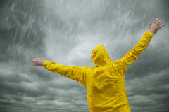 szczęśliwa pora deszczowa Zdjęcie Royalty Free
