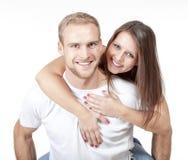 Szczęśliwa potomstwo para obrazy royalty free
