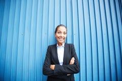 Szczęśliwa pracodawca zdjęcia royalty free