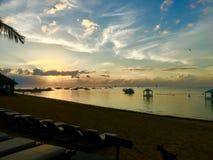 Szczęśliwa przejażdżka Pantai Karang plaża obrazy royalty free