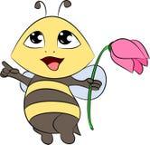 Szczęśliwa pszczoła Fotografia Royalty Free
