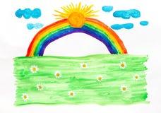 szczęśliwa rainbow Zdjęcia Stock
