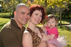Szczęśliwa rasowa rodzina Zdjęcia Royalty Free