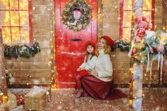 szczęśliwa rodzina świąteczne obraz royalty free