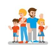 szczęśliwa rodzina ilustracji