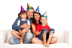 Szczęśliwa rodzina zdjęcia royalty free