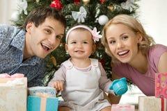 Szczęśliwa rodzina Fotografia Royalty Free