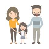 szczęśliwa rodzina Zdjęcie Royalty Free