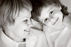 Szczęśliwa rodzina - matka i syn obraz royalty free