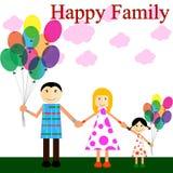 szczęśliwa rodzina park ilustracja wektor