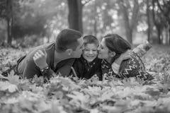 szczęśliwa rodzina park Fotografia Stock