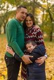 szczęśliwa rodzina park Obraz Stock