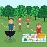 szczęśliwa rodzina piknik Obrazy Royalty Free
