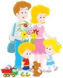 szczęśliwa rodzina razem Obrazy Royalty Free