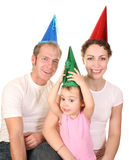 szczęśliwa rodzina urodzinowy. obraz royalty free