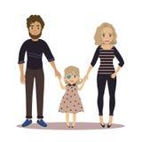 Szczęśliwa rodzina z niepełnosprawną dziewczyną Para i dziecko Royalty Ilustracja