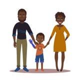 Szczęśliwa rodzina z niepełnosprawną dziewczyną Para i syn Royalty Ilustracja
