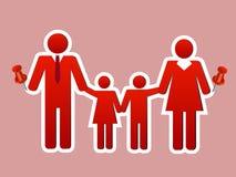 Szczęśliwa rodzinna kolaż szpilka Zdjęcie Royalty Free