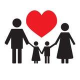 Szczęśliwa Rodzinna miłość ilustracja wektor