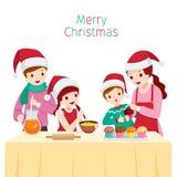Szczęśliwa Rodzinna Wypiekowa babeczka Wpólnie ilustracji