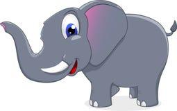 Szczęśliwa słoń pozycja Fotografia Stock
