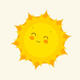 Szczęśliwa słońce ikona również zwrócić corel ilustracji wektora Obrazy Stock