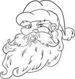 Szczęśliwa Santa Claus kolorystyki książka zdjęcia royalty free