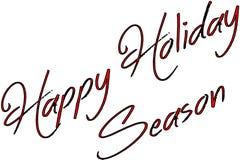 Szczęśliwa sezonu wakacyjnego teksta znaka ilustracja fotografia royalty free