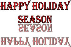 Szczęśliwa sezonu wakacyjnego teksta znaka ilustracja obrazy stock