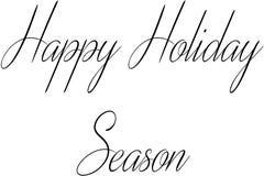 Szczęśliwa sezonu wakacyjnego teksta znaka ilustracja fotografia stock
